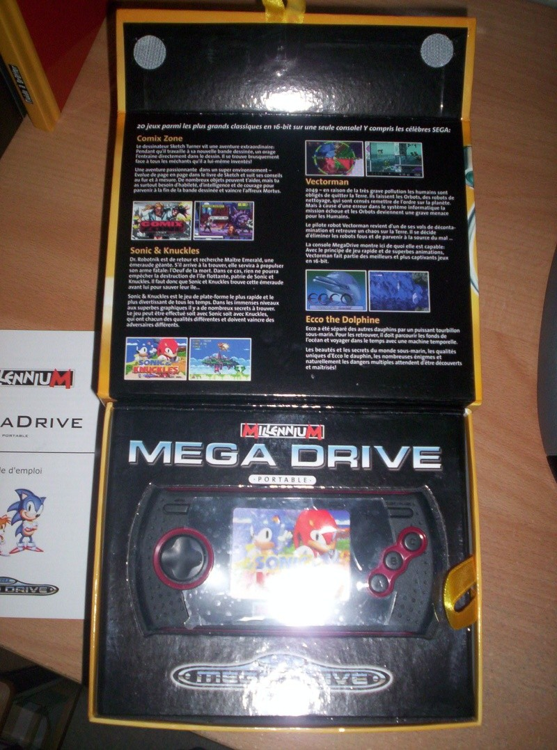 megadrive portable 6 boutons sd 30 euros. Black Bedroom Furniture Sets. Home Design Ideas