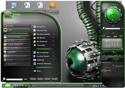 زیبا سازی دسکتاپ با نرم افزار قدرتمند و جذاب Aston v2.0.3