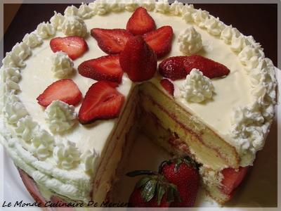 genoise aux fraises tres facile