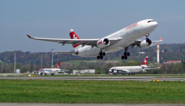 Aviation civile commerciale : suisse