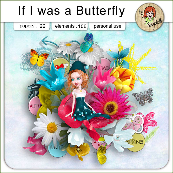 if i was a butterfly kit simplette
