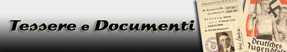 Tessere e documenti