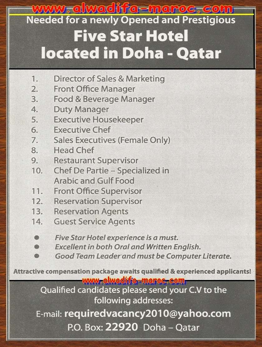 مواقع الوظيفة