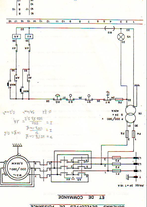 Cablage frein moteur electrique