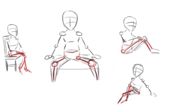 aide sur un personnage assis