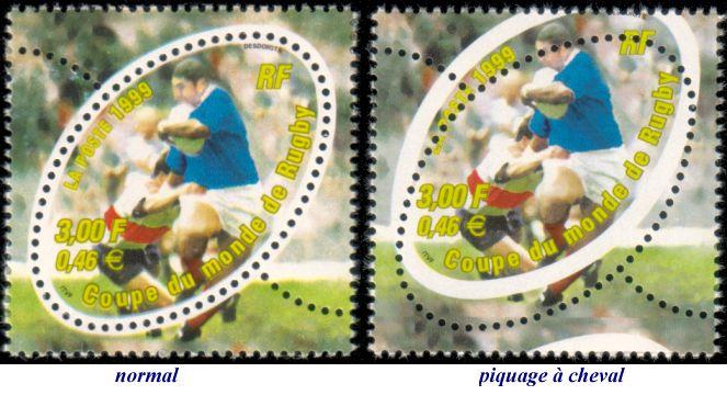 Retour sur le bloc philat lique coupe du monde de rugby 1999 premier timbre ovale - Rugby coupe du monde 1999 ...