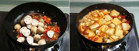 Cách làm  đậu hũ cay xốt nấm cực ngon ảnh 4