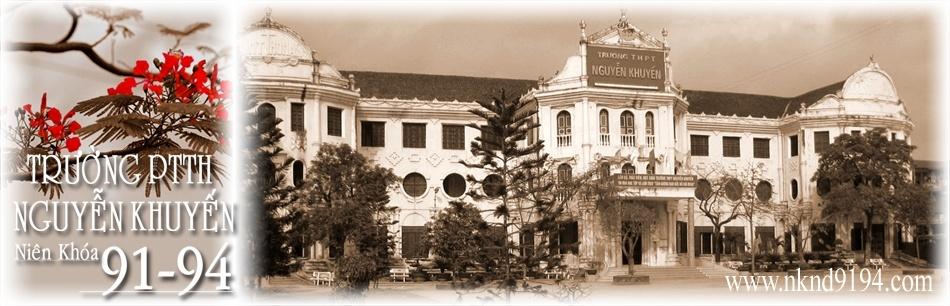 PTTH Nguyễn Khuyến Nam Định khóa 1991-1994