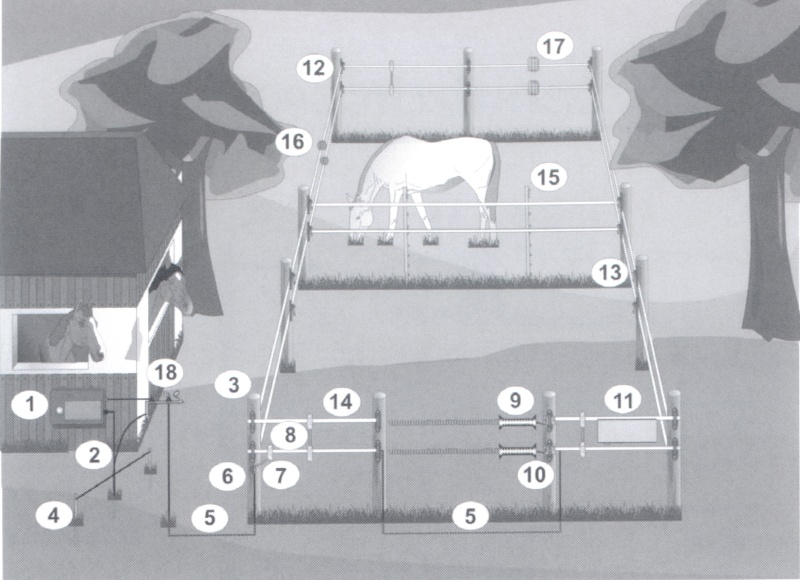 Schema Elettrico Elettrificatore Per Recinti : Come realizzare una recinzione elettrificata il recinto