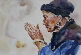 Portrait d 39 apr s un peintre chinois for Artiste peintre chinois
