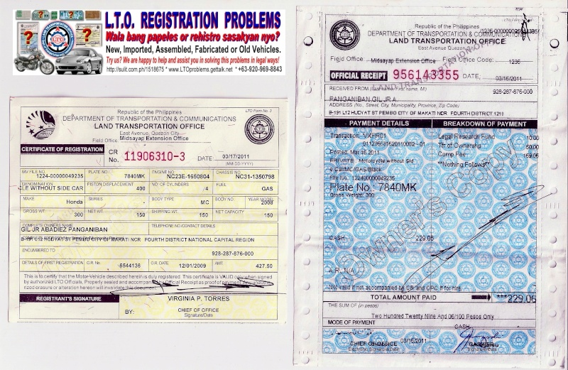 Car Lease Registration Fee