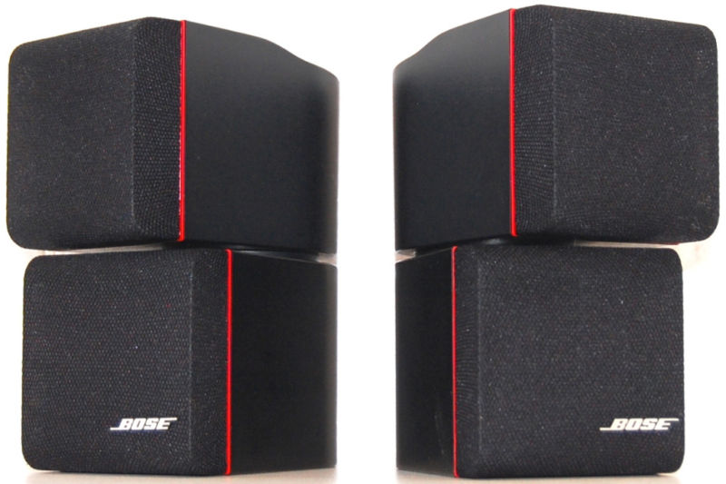 bose acoustimass lifestyle redline double cube speakers used sold. Black Bedroom Furniture Sets. Home Design Ideas
