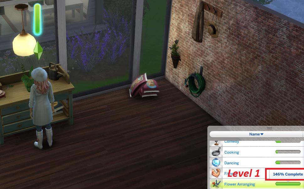 seasons flower arrangement stuck at level one the sims forums. Black Bedroom Furniture Sets. Home Design Ideas