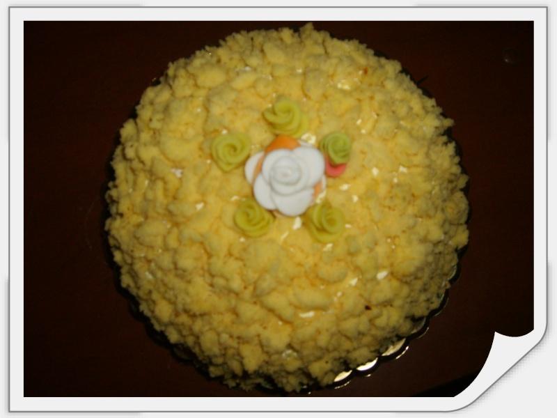 Torta mimosa a zuccotto for Decorazione zuccotto