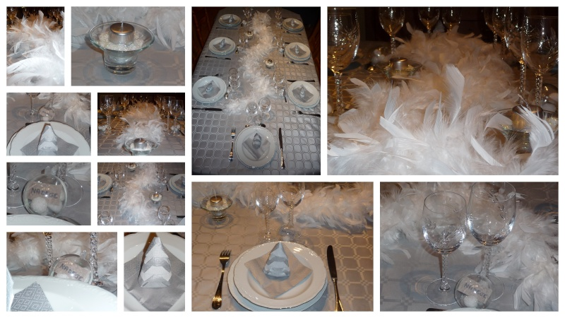 Ma deco de table blanc et argent de mon reveillon de noel for Decoration 31 decembre