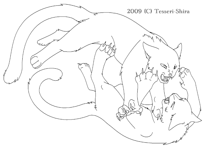 Free Warrior Cat Clan Coloring Pages