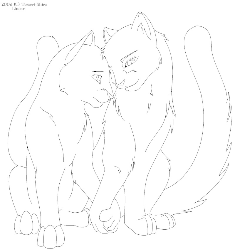 Warrior Cat Lineart