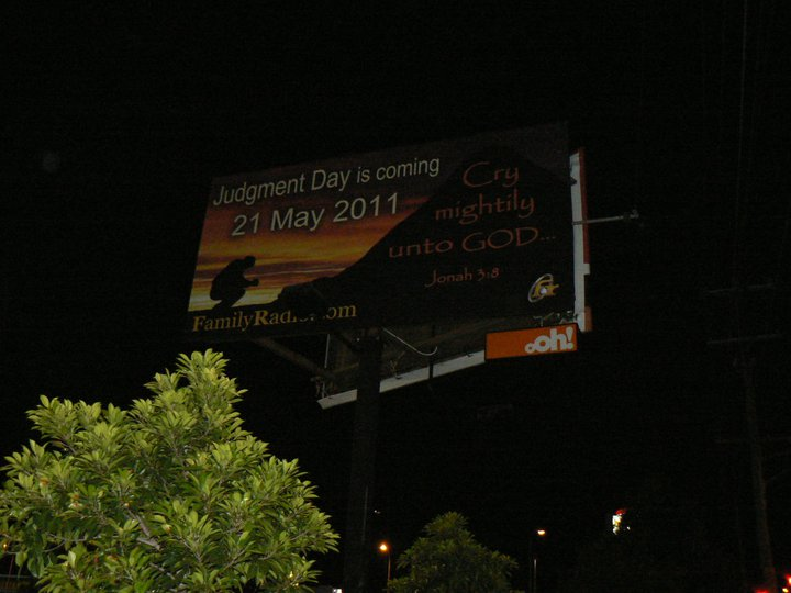 may 21 judgement day billboard. 21st of May, 2011 - Judgement